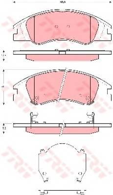 Тормозные колодки Тормозные колодки дисковые PAGID арт. GDB3367