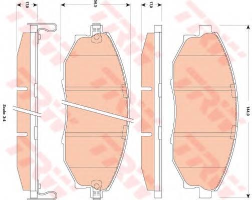 Тормозные колодки Тормозные колодки дисковые ABE арт. GDB4179