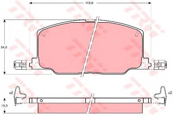 Тормозные колодки Тормозные колодки дисковые PAGID арт. GDB798