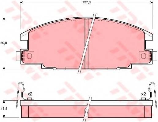 Тормозные колодки Тормозные колодки дисковые ABE арт. GDB870