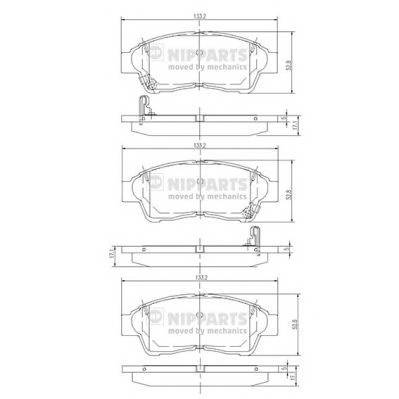 Тормозная система Гальмiвнi колодки, к-кт. ABE арт. J3602064