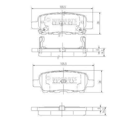 Тормозная система Гальмiвнi колодки, к-кт. PAGID арт. J3611044