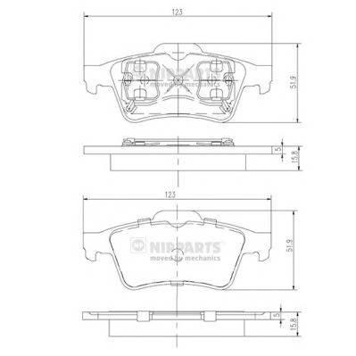 Тормозная система Гальмiвнi колодки, к-кт. PAGID арт. J3611045