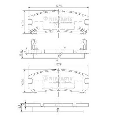 Тормозная система Гальмiвнi колодки, к-кт. PAGID арт. J3615003