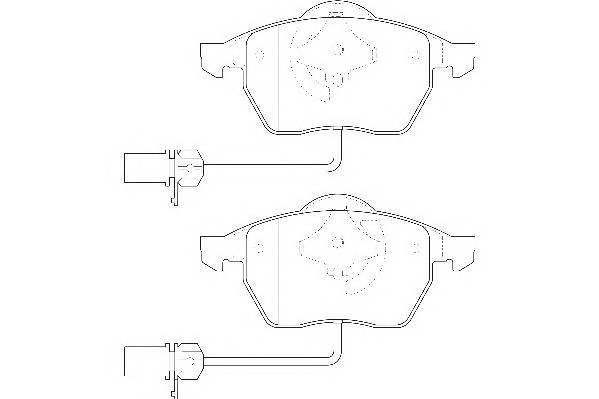 Тормозные колодки Тормозные колодки Wagner PAGID арт. WBP20676B