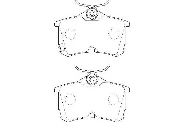 Тормозные колодки Тормозные колодки Wagner PAGID арт. WBP23527A