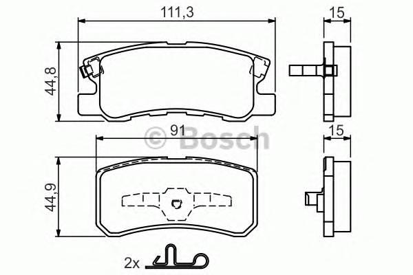 Тормозные колодки Тормозные колодки Bosch PAGID арт. 0986424717