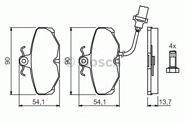 Тормозные колодки Тормозные колодки дисковые PAGID арт. 0986469820