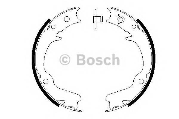 Тормозные колодки Тормозные колодки Subaru Forester -07 ABE арт. 0986487681