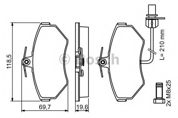 Тормозные колодки Тормозные колодки Bosch ABE арт. 0986494042