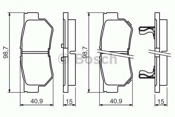 Тормозная система Гальмiвнi колодки, к-кт. PAGID арт. 0986494417