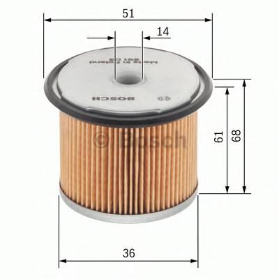 Топливные фильтры Топливный фильтр диз BOSCH арт. 1457429230