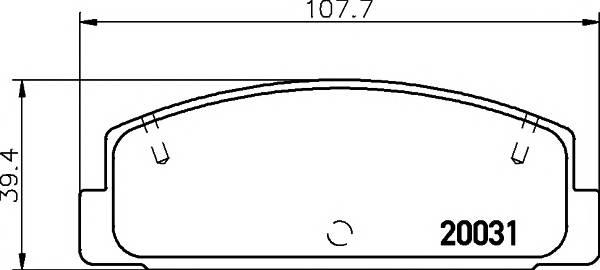 Тормозные колодки Тормозные колодки дисковые PAGID арт. 2003101