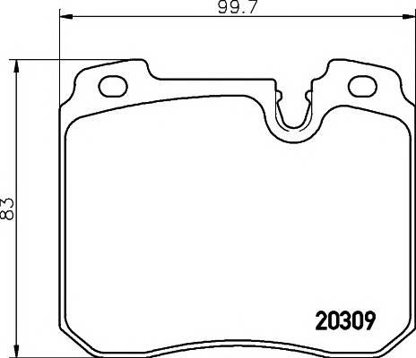Тормозные колодки Тормозные колодки дисковые PAGID арт. 2030907