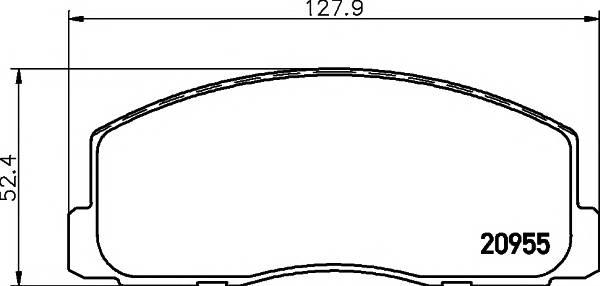 Тормозные колодки Тормозные колодки дисковые ABE арт. 2095501