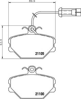 Тормозные колодки Тормозные колодки дисковые ABE арт. 2110005