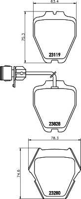 Тормозные колодки Тормозные колодки дисковые PAGID арт. 2311901