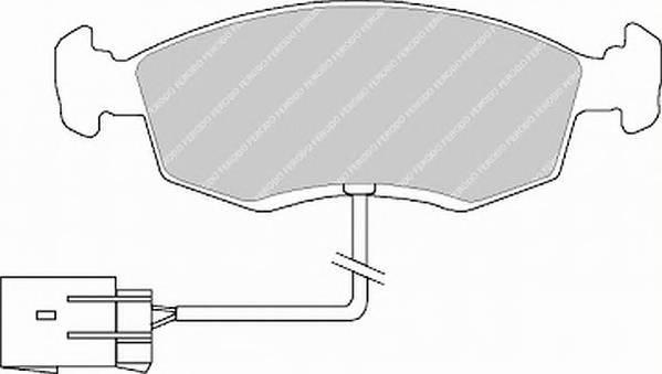 Тормозные колодки Тормозные колодки дисковые PAGID арт. FDB846
