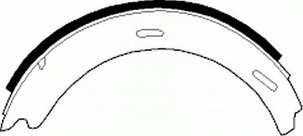 Тормозные колодки Тормозные колодки барабанные Ferodo PAGID арт. FSB196