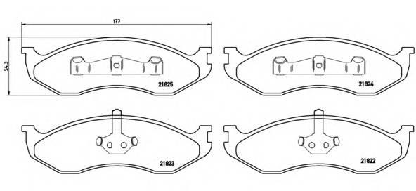 Тормозная система Гальмiвнi колодки, к-кт. PAGID арт. P37004