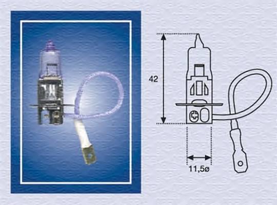 H3 12 RAL Лампа накаливания (H3 12V 100W RAL) MAGNETIMARELLI 002563100000