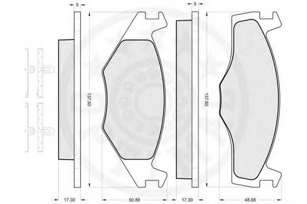 Тормозные колодки Тормозные колодки OPTIMAL арт. 9968
