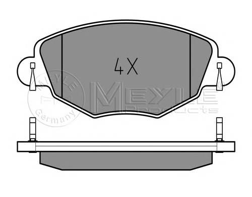 Тормозные колодки Тормозные колодки дисковые PAGID арт. 0252327918