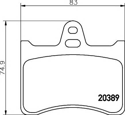 Тормозные колодки 20389/16,0мм Тормозные колодки PAGID PAGID арт. T0816