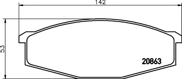 Тормозные колодки 20863/17,0мм Тормозные колодки PAGID ABE арт. T0859