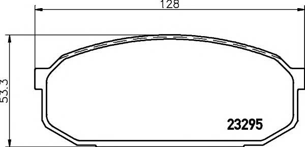 Тормозные колодки 23295/16,0мм Тормозные колодки PAGID PAGID арт. T3084
