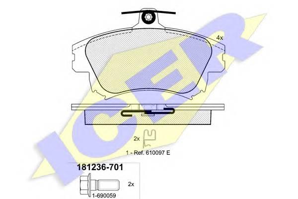 Тормозные колодки Тормозные колодки дисковые PAGID арт. 181236701
