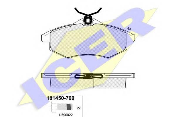 Тормозные колодки Тормозные колодки дисковые ABE арт. 181450700