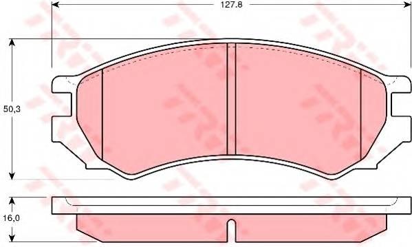 Тормозные колодки Тормозные колодки дисковые ABE арт. GDB1005