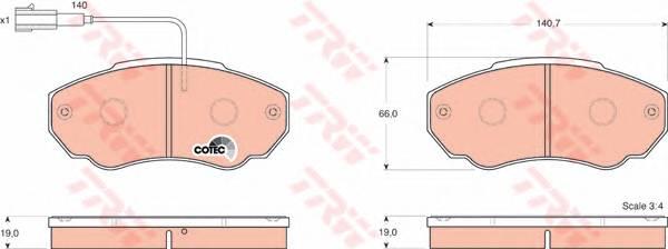 Тормозные колодки Тормозные колодки дисковые ABE арт. GDB1517