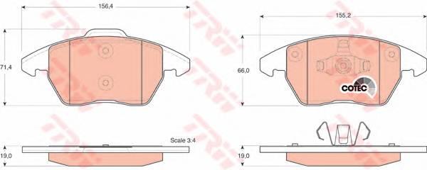 Тормозные колодки Тормозные колодки дисковые ABE арт. GDB1605