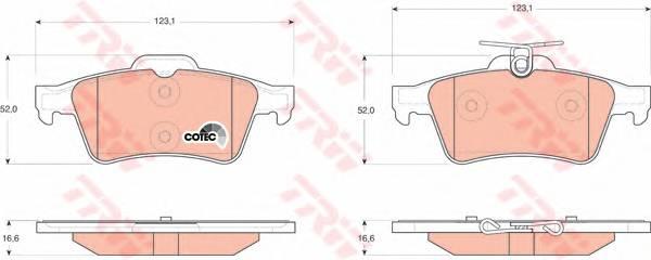 Тормозные колодки Тормозные колодки дисковые PAGID арт. GDB1621