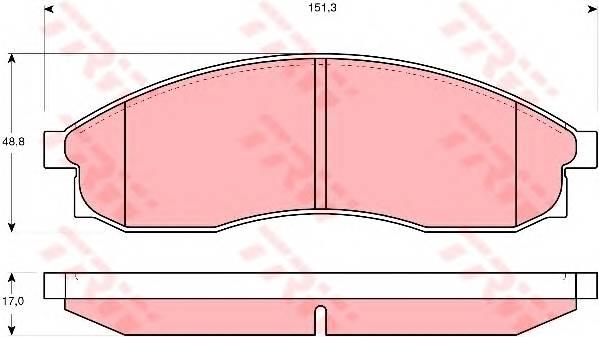 Тормозные колодки Тормозные колодки дисковые PAGID арт. GDB3107
