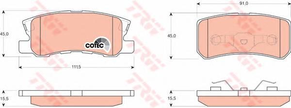 Тормозные колодки Тормозные колодки дисковые PAGID арт. GDB3247