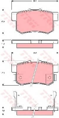 Тормозные колодки Тормозные колодки дисковые PAGID арт. GDB3269