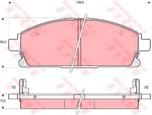 Тормозные колодки Тормозные колодки дисковые PAGID арт. GDB3312