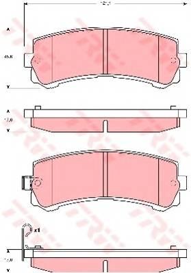 Тормозные колодки Тормозные колодки дисковые PAGID арт. GDB3362