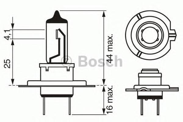 Лампа H7 12V 55W PX26d Xenon blue BOSCH 1987302075