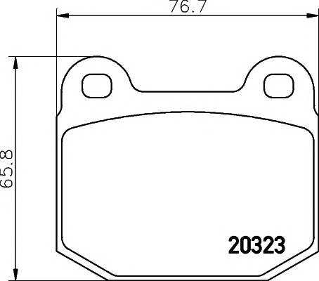 Тормозные колодки Тормозные колодки дисковые TEXTAR арт. 2032303
