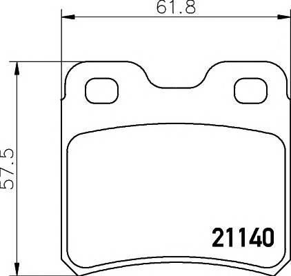 Тормозные колодки Тормозные колодки дисковые TEXTAR арт. 2114001