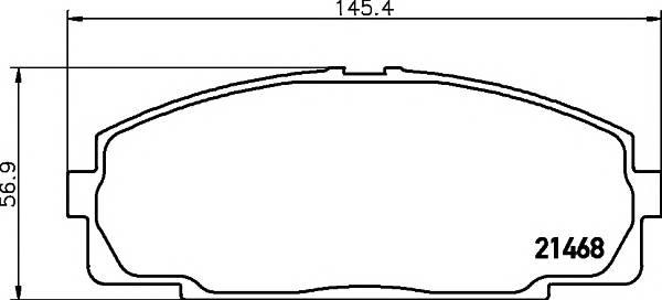 Тормозные колодки Тормозные колодки дисковые PAGID арт. 2146801