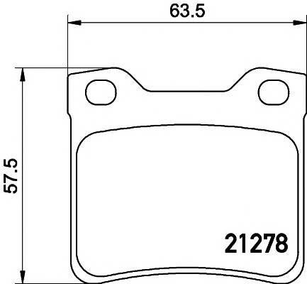 Тормозные колодки Тормозные колодки дисковые PAGID арт. 2127803
