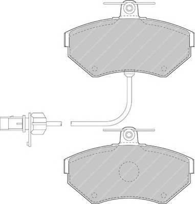 Тормозные колодки Тормозные колодки Ferodo ABE арт. FSL1451