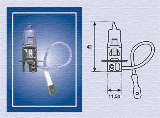 H3 24 Лампа накаливания (H3 24V 70W) MAGNETIMARELLI 002554100000