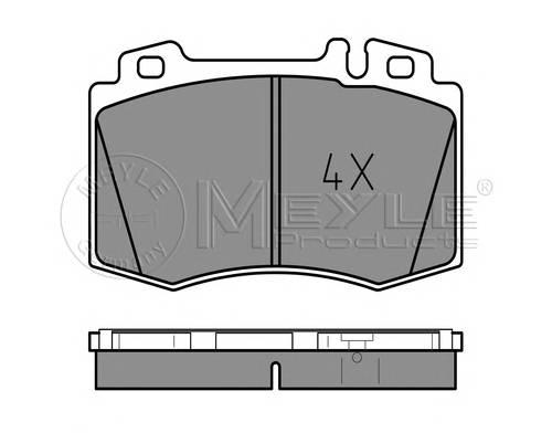 Тормозные колодки Тормозные колодки дисковые MB ML W163 PAGID арт. 0252327117