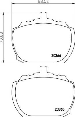 Тормозные колодки 20364/15,0мм Тормозные колодки PAGID PAGID арт. T0571